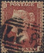 1855 1d Red SG24 Plate 2 'OK'